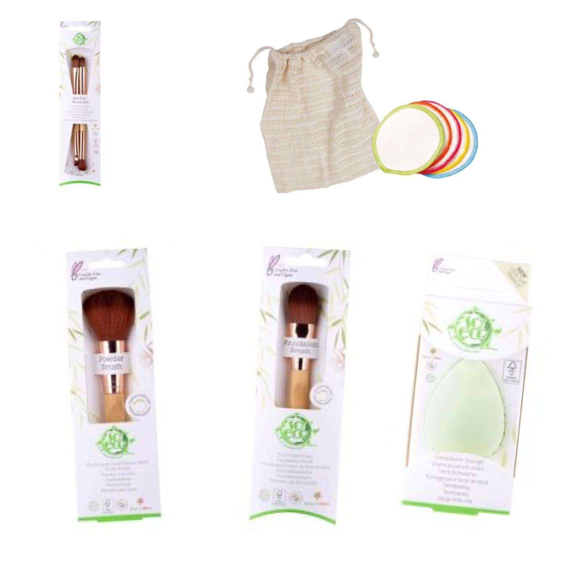 EcoFriendly Vegan Make Up Brushes and Make Up Remover