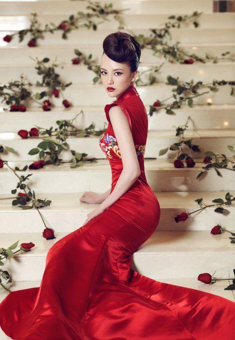 ef4245dc8 luxury red Chinese wedding dress   Chinese Wedding Dress   Wedding ...