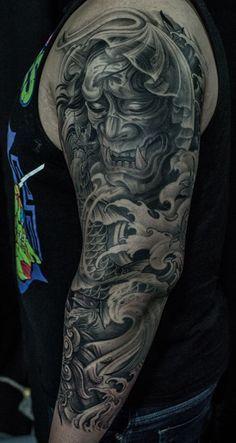 Chronic Ink Tattoo Toronto Tattoo 3 4 Sleeve Hannya Mask And Koi Fish Tattoo Done By Winson Ink Tattoo Tattoos Sleeve Tattoos