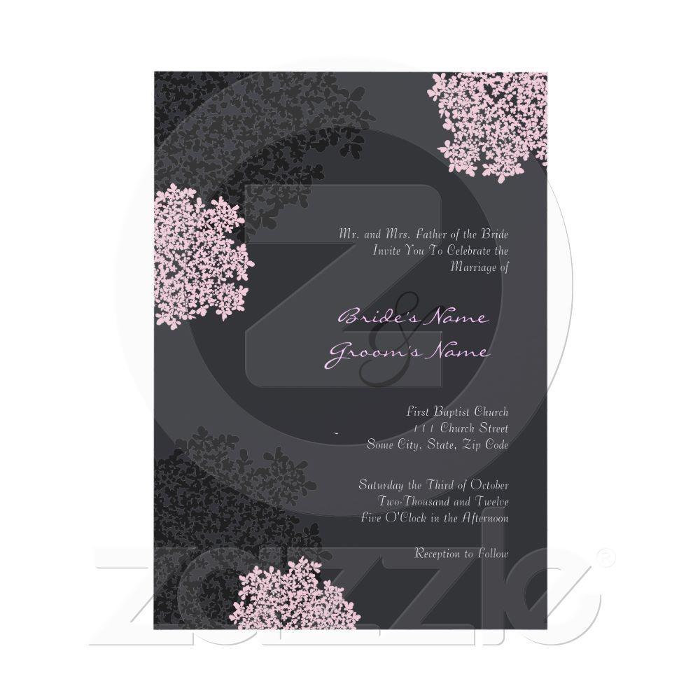 Black u0026 Pink Queen Anneu0027s Lace Wedding