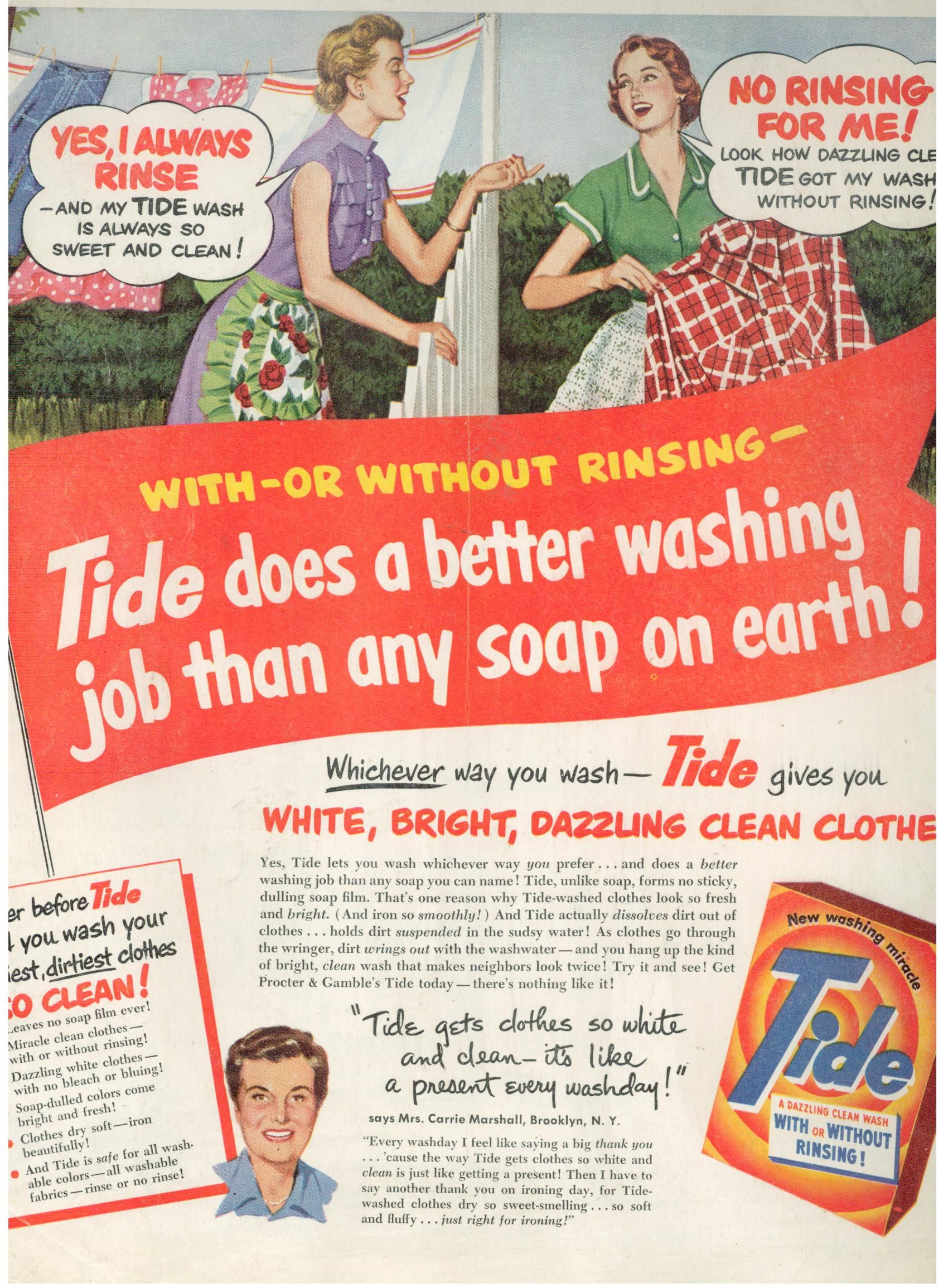 This Is A Fab Vintage Tide Ad From Ladies Home Journal January 1951 Description From Blog Finnfemme Com I S Vintage Laundry Vintage Advertisements Old Ads