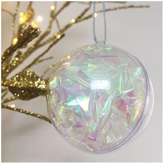 Iridescent baubles - Set of 3 - Christmas Decorations - Handmade