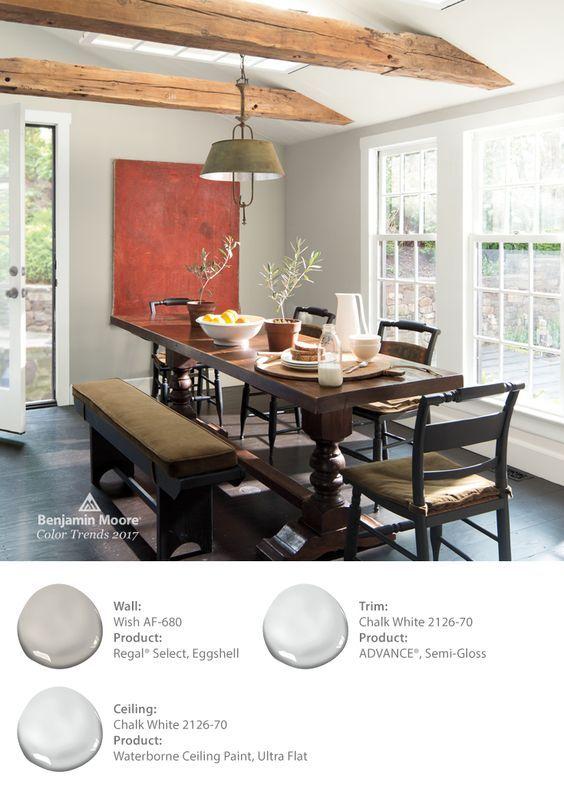 Benjamin Moore's Wish AF-680 paint color adds warmth to ...