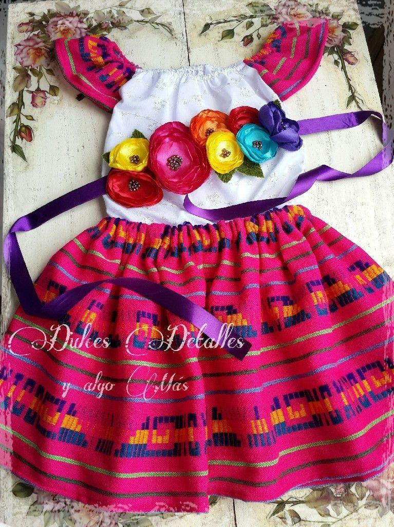 Corona Y Traje Estilo Frida Vestidos Mexicanos Para Niña