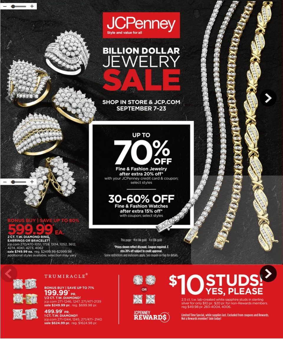 cdcd494a Browse JCPenney Weekly Ad Flyer was published valid September 7 – 23, 2018.  Check out JCPenney weekly ads for the latest deals on your favorite items.