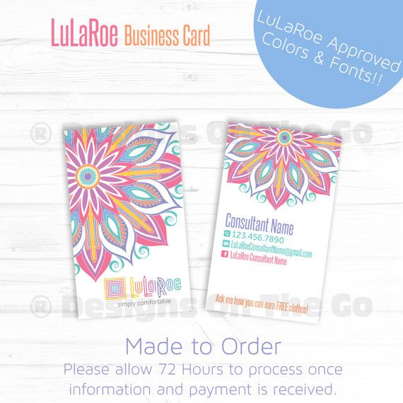 Lularoe approved font color vertical business card made to order lularoe approved font color vertical business card made to order diy reheart Choice Image
