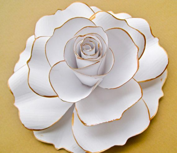 Giant Paper Rose for Wall Decor, Extra Large Paper Rose, Flower with Stem, Wedding Flower Backdrop, Birthday Party Flowers #paperflowerswedding