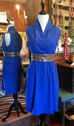 Royal Blue Dress with Pockets