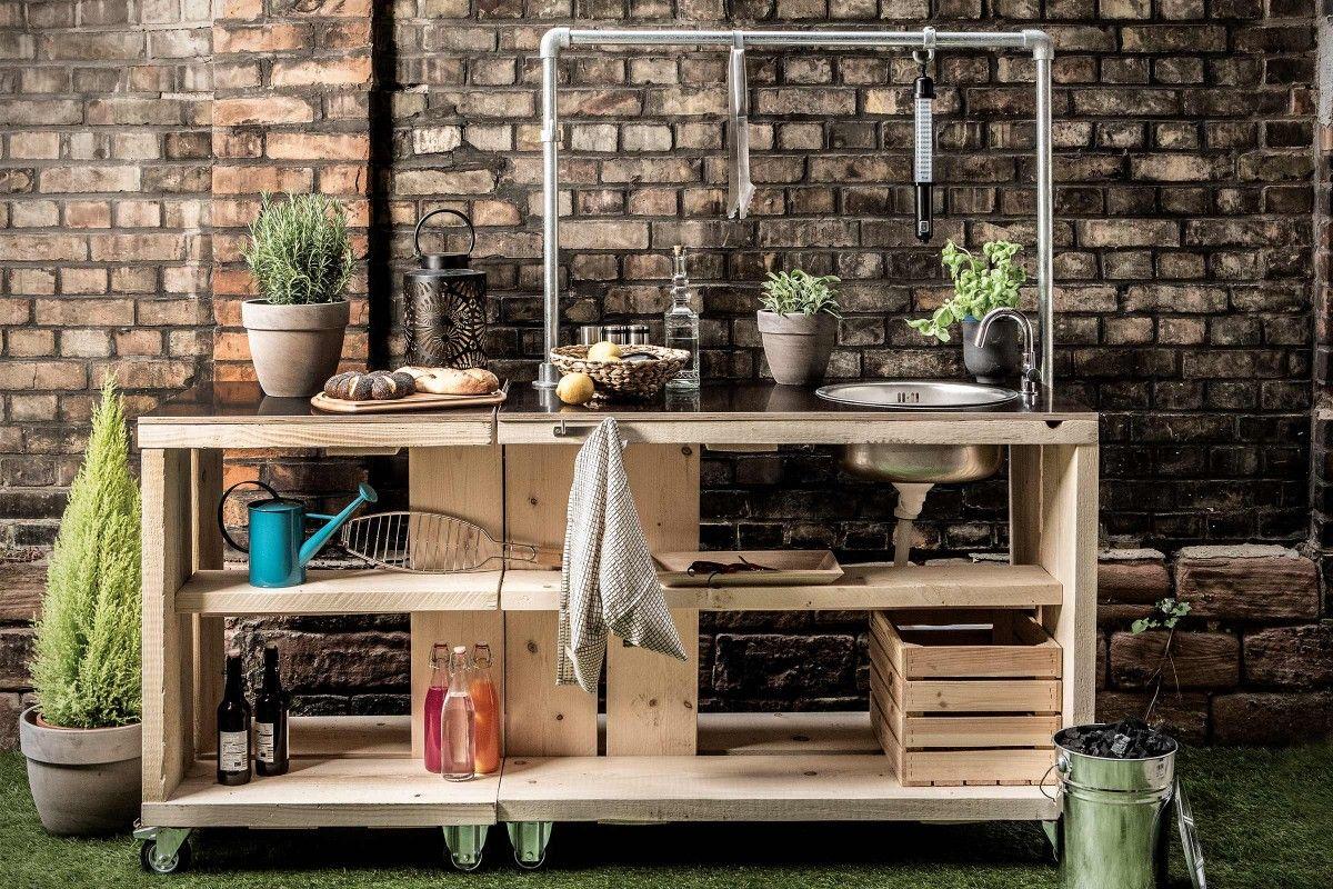Mobile Outdoor-Küche selber bauen   Anleitung von HORNBACH