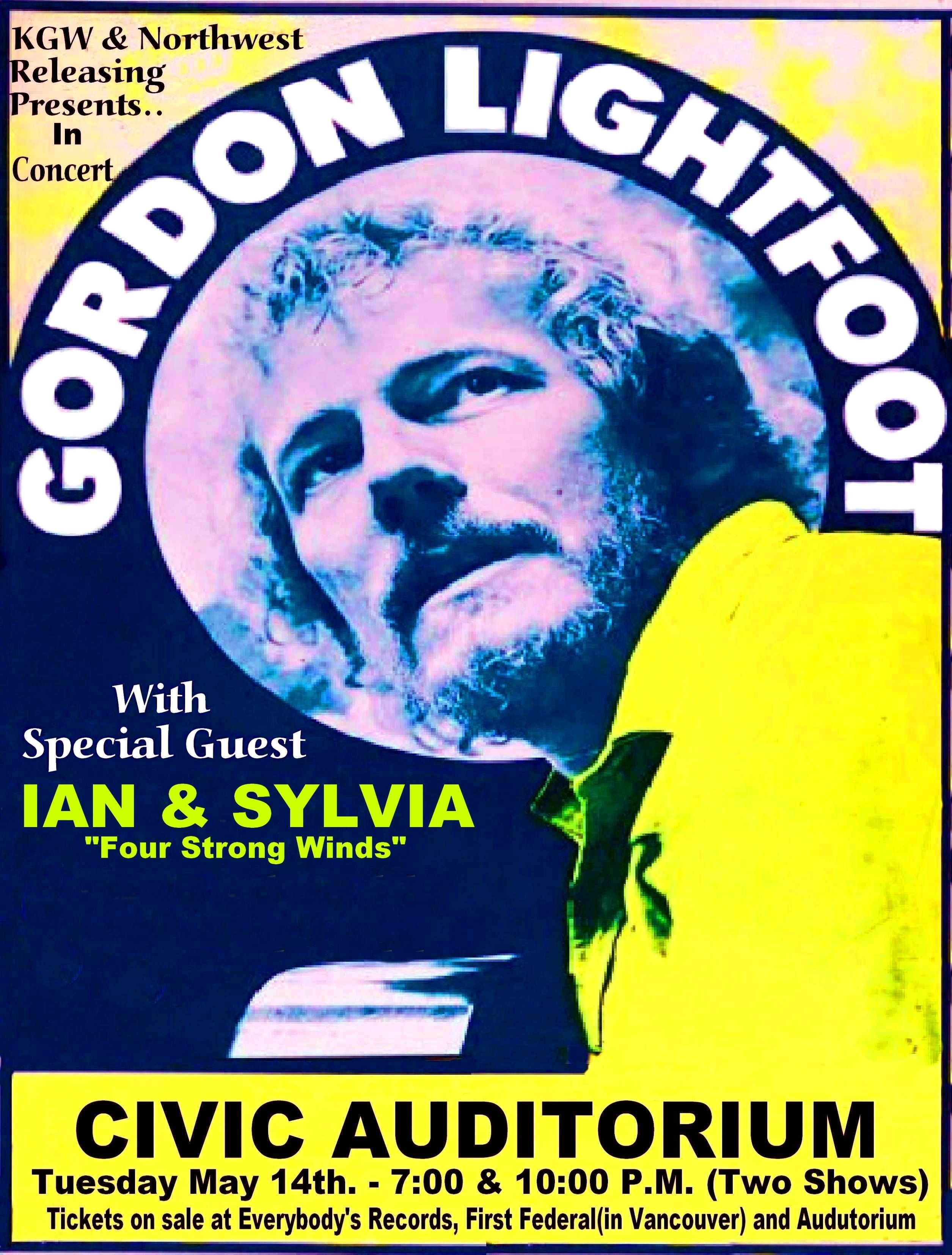 Gord Lightfoot CONCERT POSTER | cool concert posters in 2019