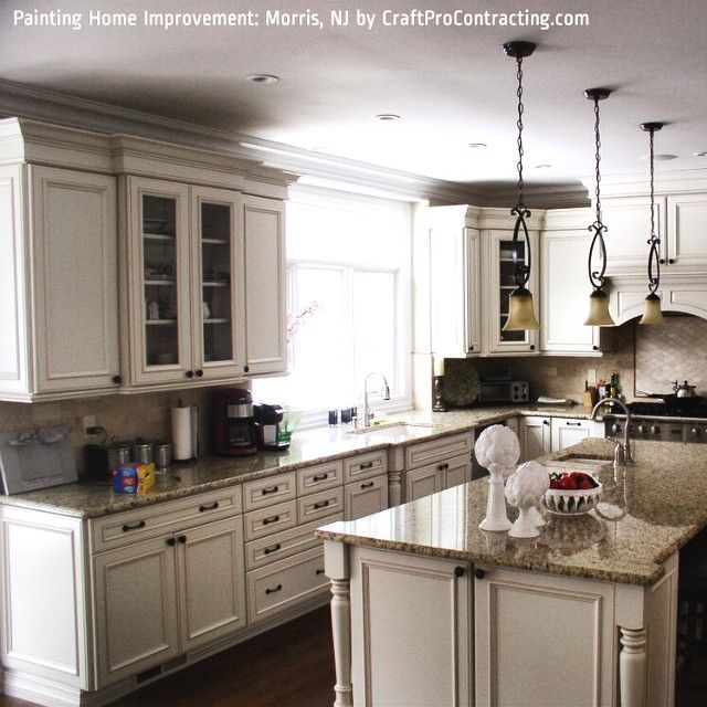 """Beautiful #luxury #kitchen at a brand new home in #MorrisCounty #NJ - #painting by #CraftPro.  #interiorpainting #professionalpainting #painters…"""