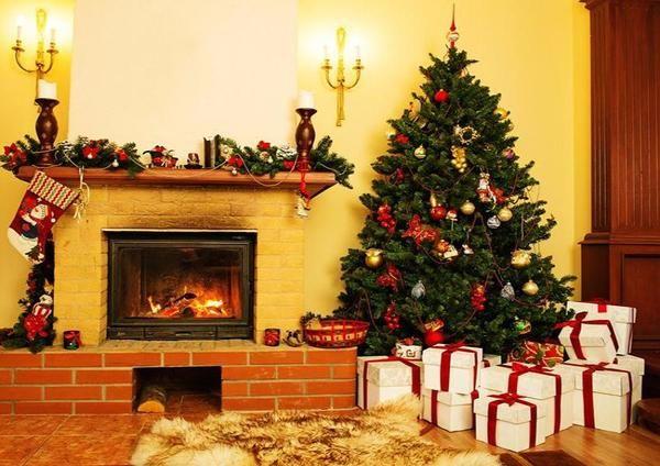 Christmas Photography Fireplace And Christmas Tree Background Christmas Backdrops Christmas Interiors Christmas Tree Background Christmas tree living room background