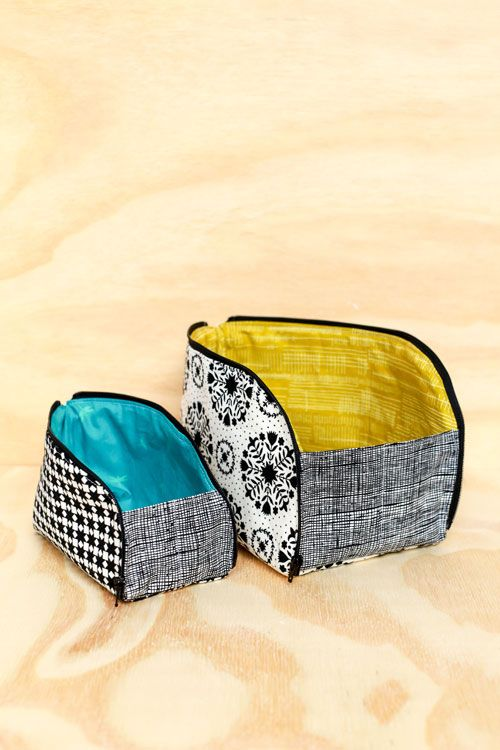 Open-out Box Pouches (In Color Order)   Sew zipper pouch   Pinterest ...