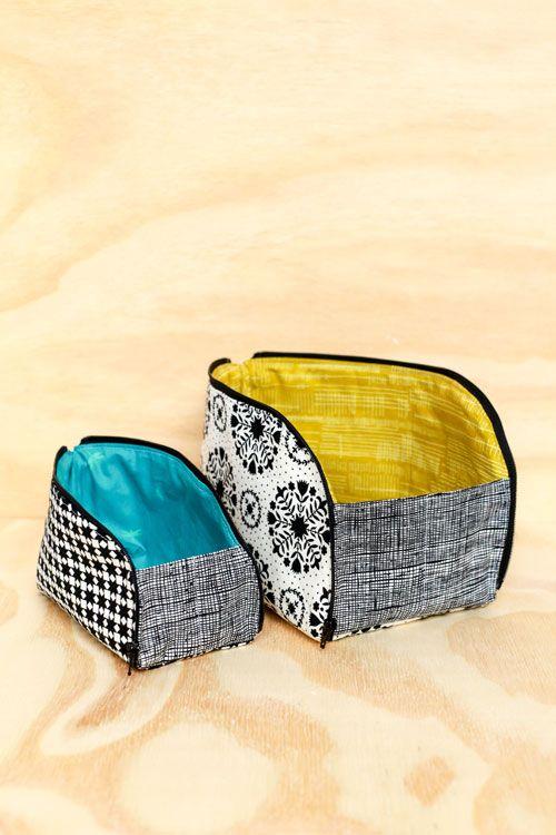 Open-out Box Pouches | Kleine taschen, Taschen nähen und gute Ideen