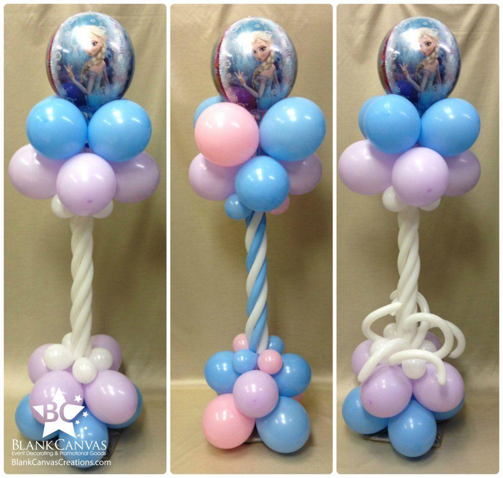Como decorar el salon con globos frozen balloon columns - Decoracion con globos para cumpleanos ...