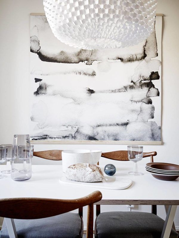 Superieur Oversized Art Ideas For Your Dreamy Home: Minimal Mood   Pair An Abstract  And Neutral