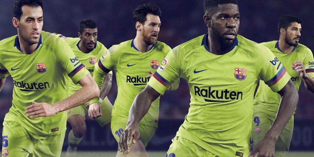 FC Barcelona 2018 2019 Away Kit.  9dbc199f1