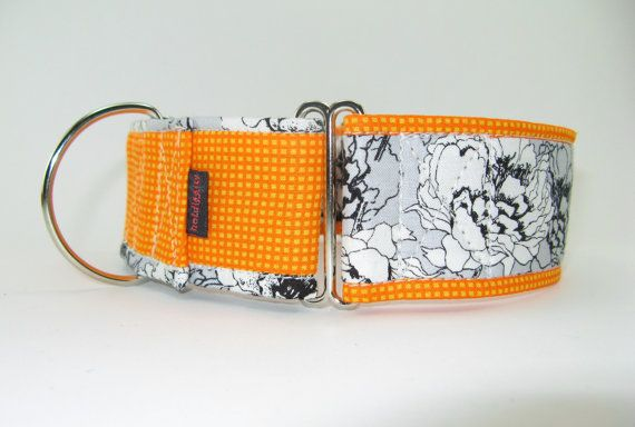 Unique Flowered Martingale Collar Checks and by HotdiggityCollars