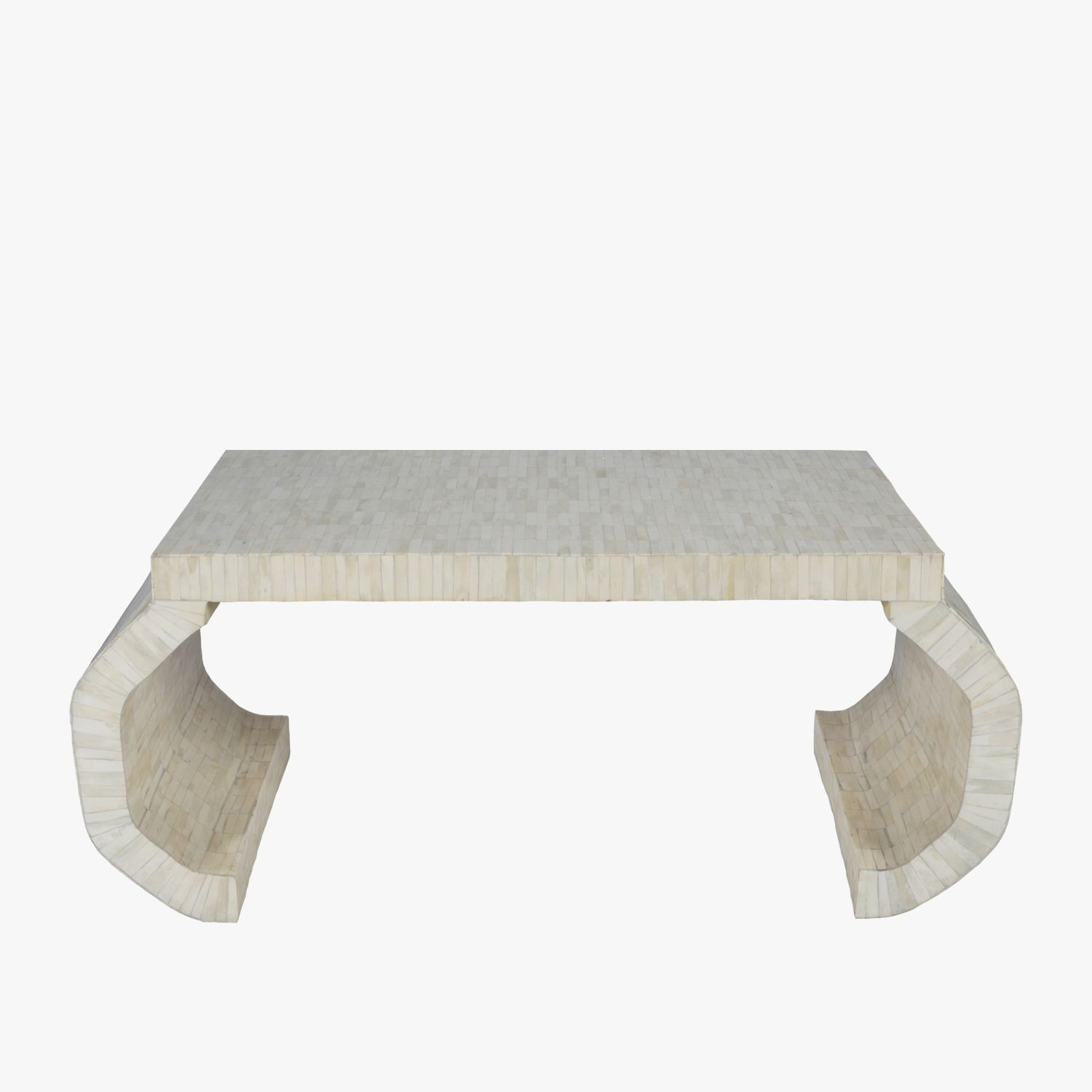 Our Livingston Inlay Coffee Table Features Natural Bone In A Striking Brick Pattern With Its Faceted Legs This Burled Wood Burled Wood Furniture Coffee Table [ 1500 x 1500 Pixel ]