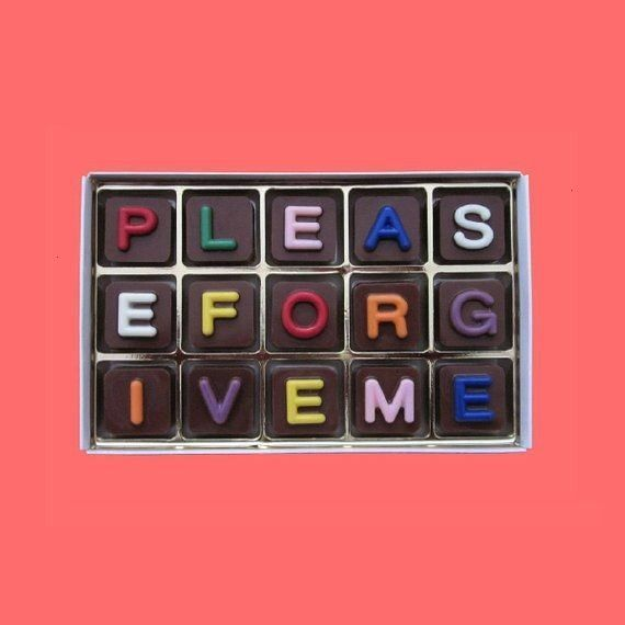 Forgive Me Gift Message Chocolate Gift Apology Gift Idea I Am Really Sorry Gift for Woman Man Im Sorry Gift for Friend Boss Dad Mom  Please Forgive Me Gift Message Chocol...