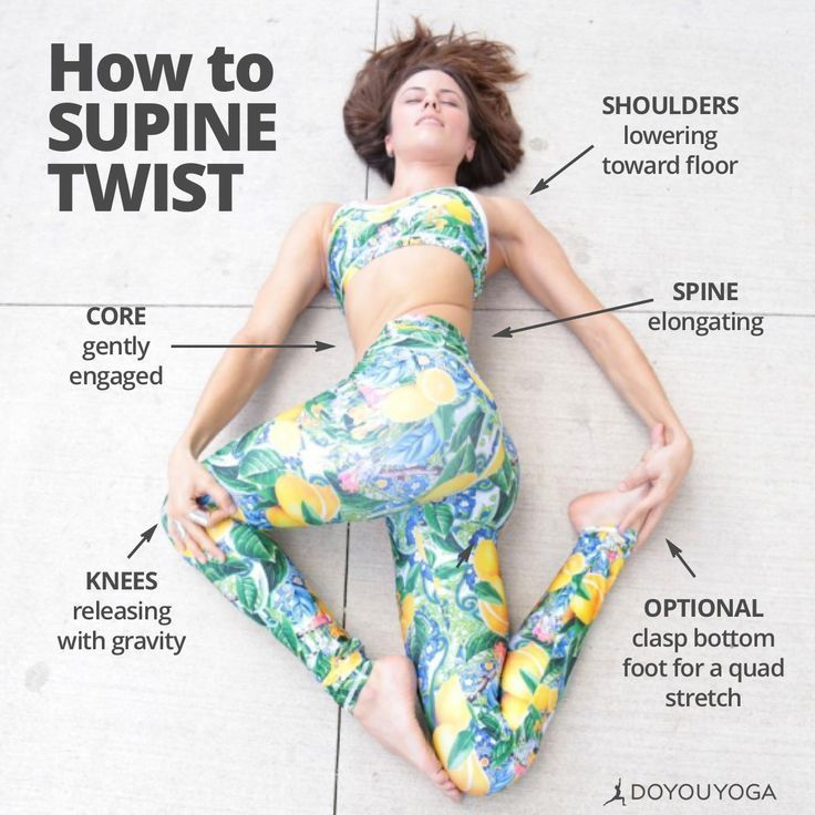 fitness - Vêtements / Yoga : Sports et Loisirs #pilatesposes How to - Supine Twist #Fitness #Loisirs...