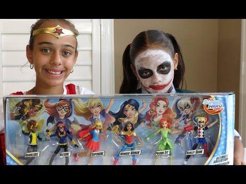 WONDER WOMAN VS JOKER GIRL DC Superhero Toys BATGIRL SUPERGIRL Kinder Surprise Eggs TOYSTOSEE - YouTube