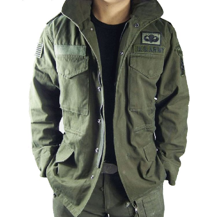 Canvas trench coat outdoor jacket jacket men's classic version of ...