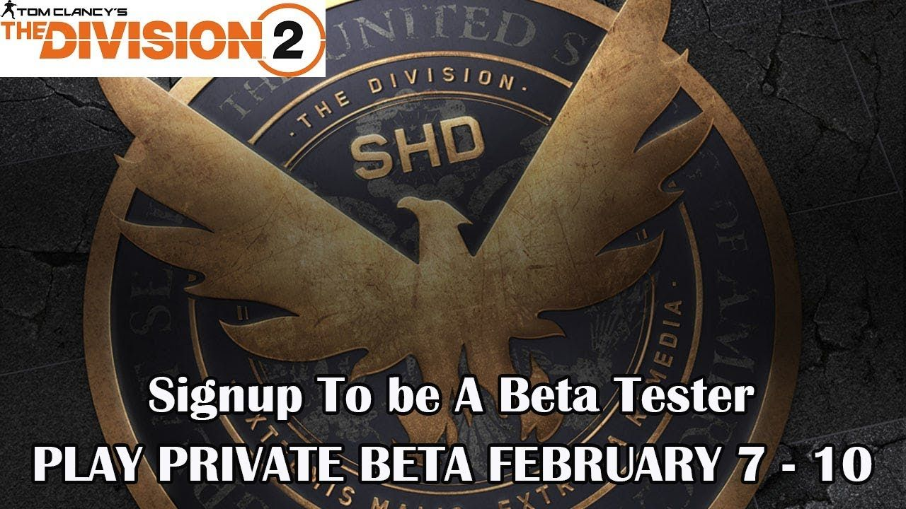 The Division 2 Beta Sign-up Released | Private Beta Begins February