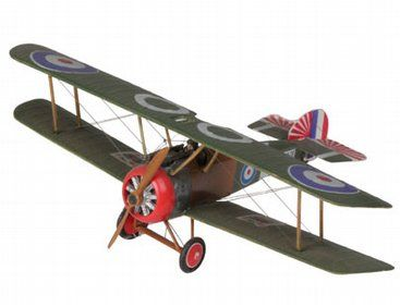 The Revell 1/72 Sopwith F1 Camel in the plastic aircraft models range accurately recreates the real life British fighter aircraft used during World War I. This plastic aircraft kit requires paint and glue to complete.