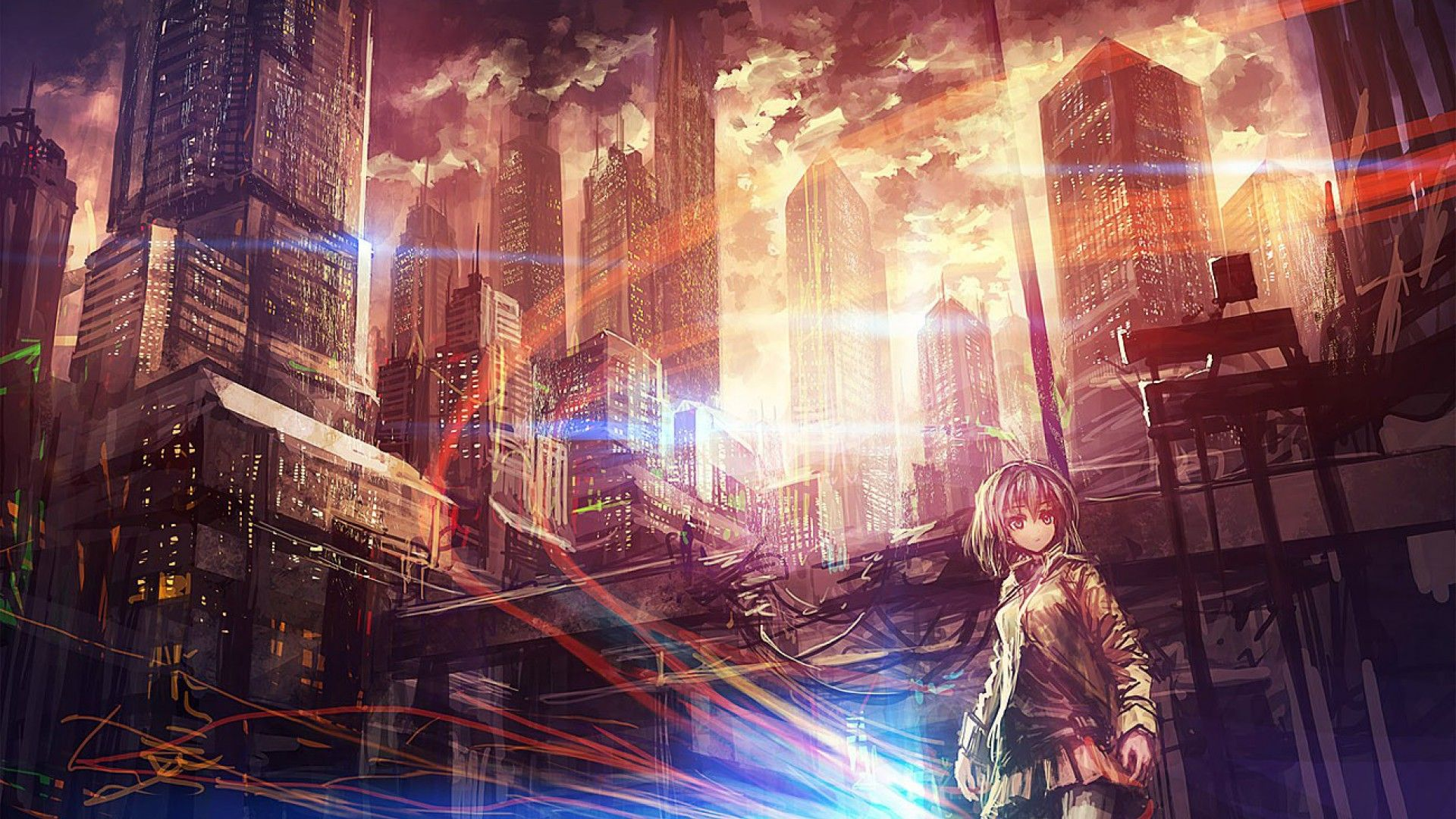 dark anime scenery wallpaper images with high definition
