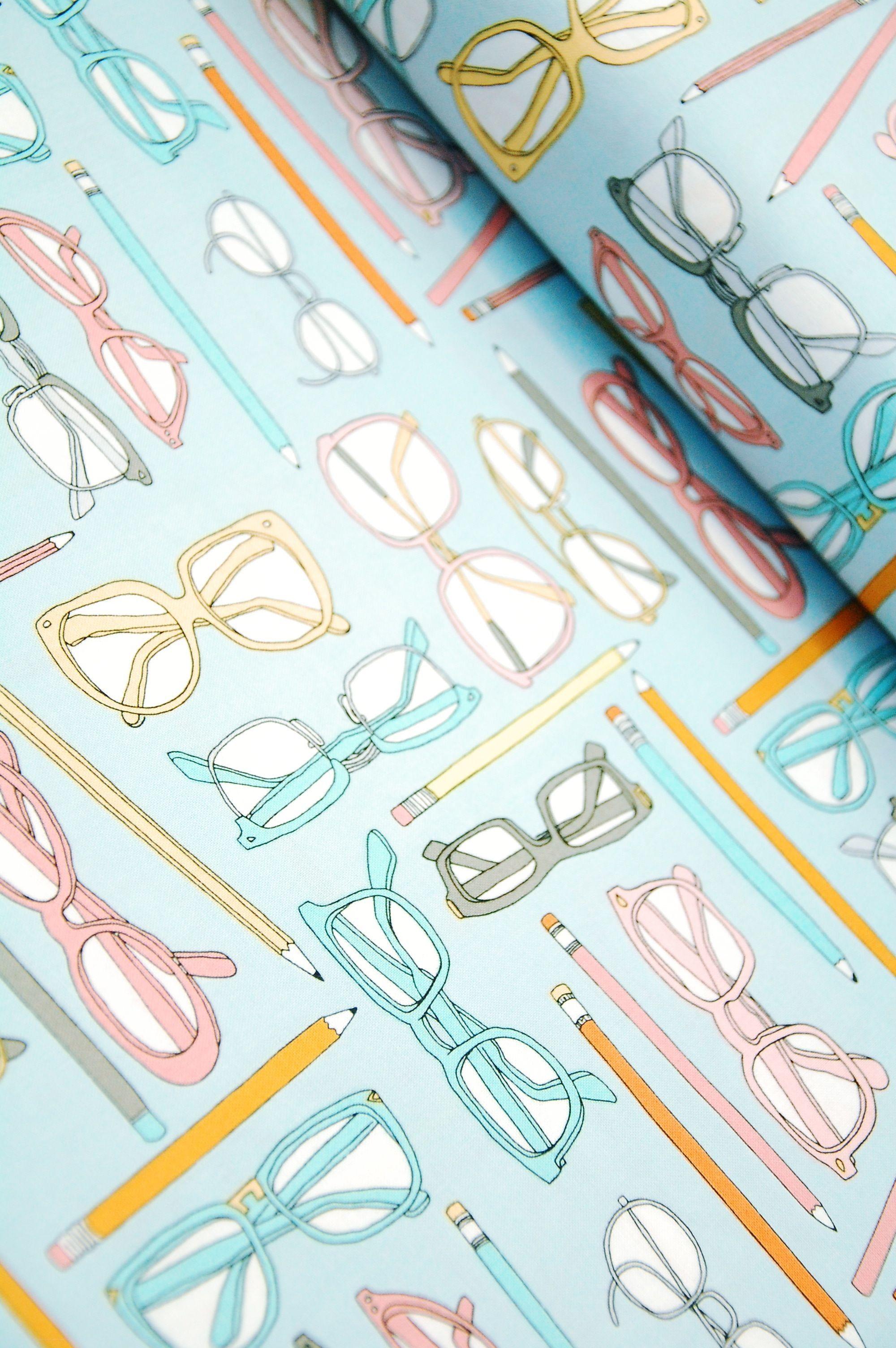 LOVE this print! Pencils & Spectacles - Type - Julia Rothman - Windham Fabrics
