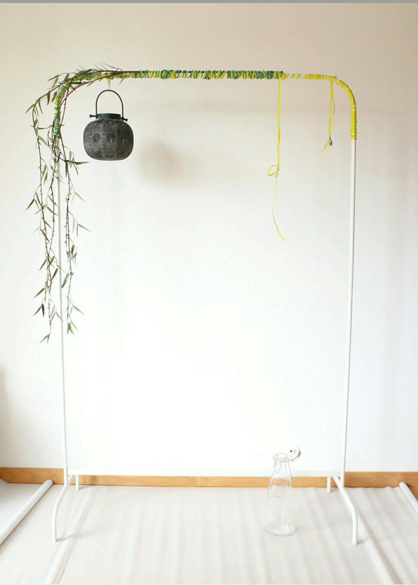 Ikea Mulig Hack From Hanging Rack To Garden Display Ikea Rack Ikea Clothes Rack Ikea Decor