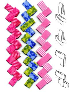 Art projects for kids paper chains gum wrapper style for Paper folding art projects