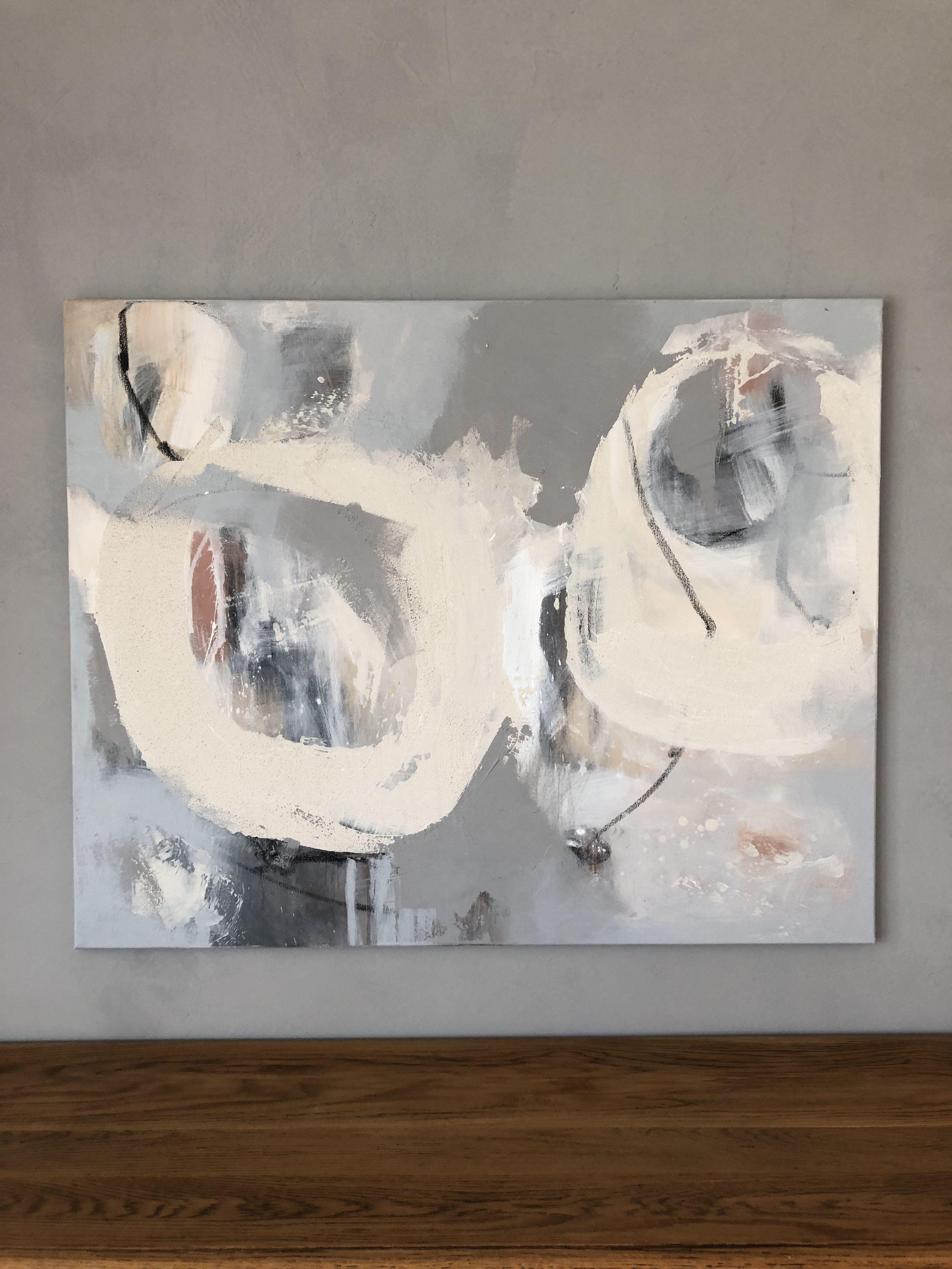 Der Augenblick 80x100cm Abstract Acryl Leinwand Gips