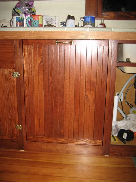 Douglas Fir Beadboard Dishwasher Panel Built To Match Existing Cabinet  Doors. Panelled Refrigerator. Totally