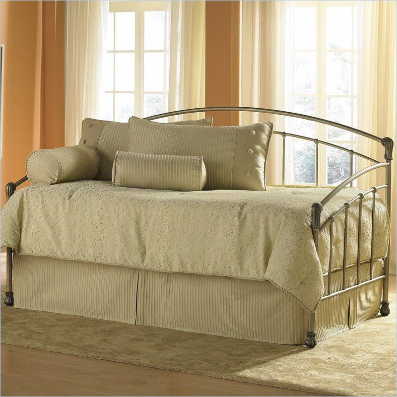 Fashion Bed Group Tuxedo Metal Daybed in Gold Frost Finish