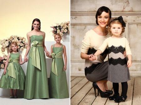 Красивые платья для мам и детей