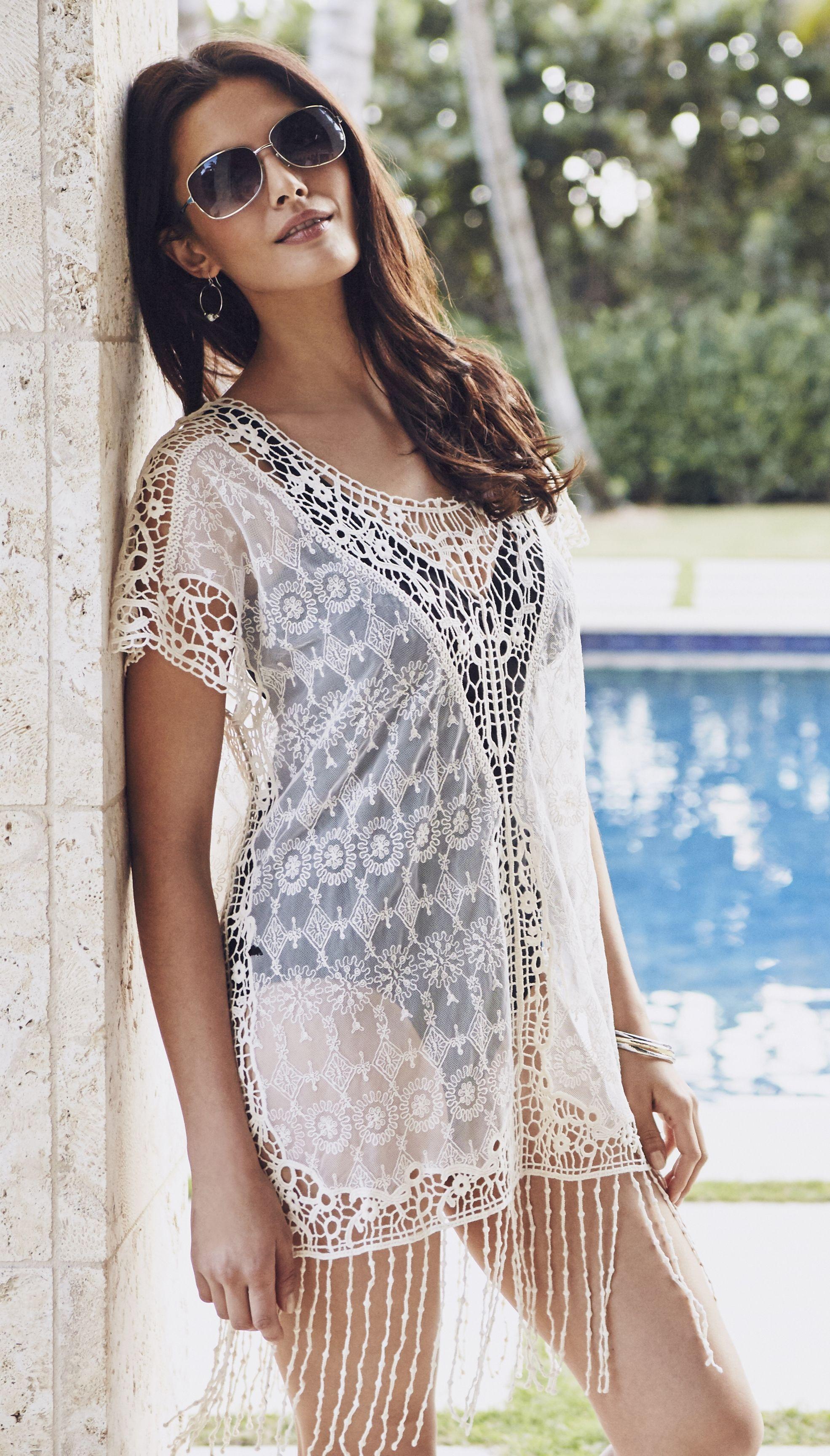 97084fc8e8 Lace swimdress cover up. Lace swimdress cover up Mature Women Fashion ...