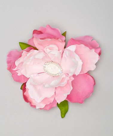 Pink Rhinestone Flower Clip by Enchanted Fairyware Couture #zulily #zulilyfinds