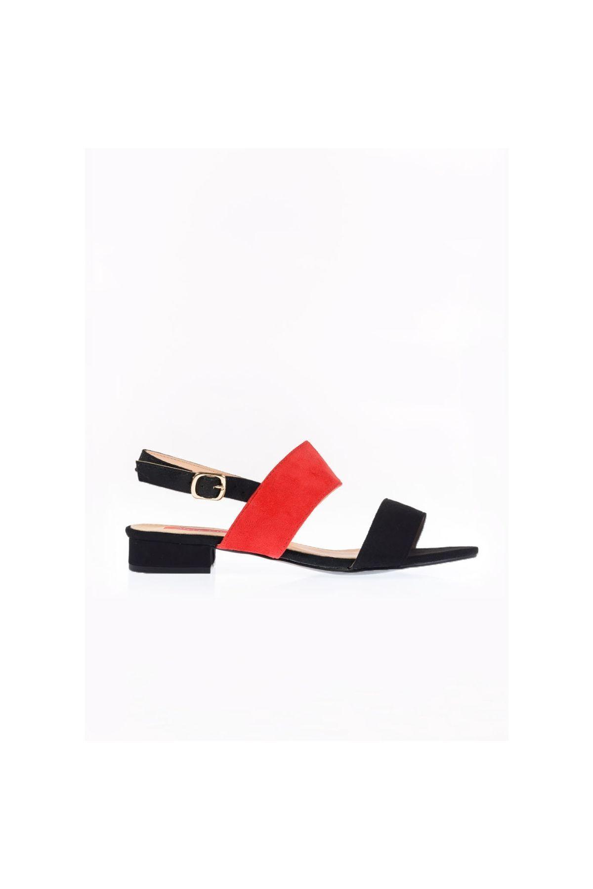 642b445d94a Kari Suede Πέδιλο, Μαύρο - Κόκκινο | shoes, 2019 | Μαύρο, Κόκκινο ...