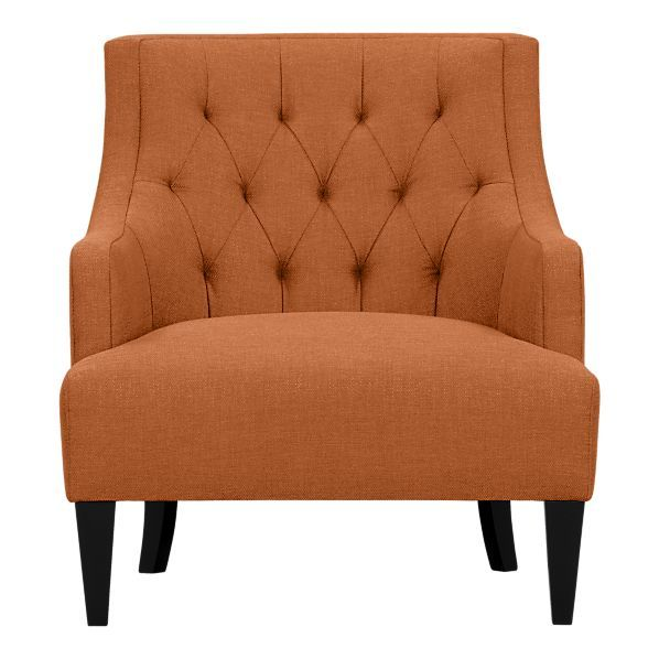 Merveilleux Tess Chair From Crate And Barrel In Samba (orange). This Chair Is Speaking