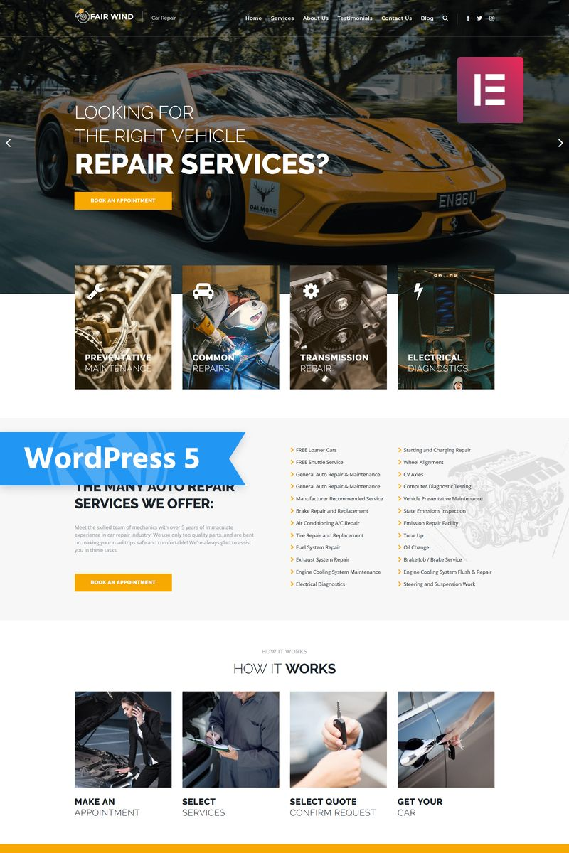 Best Selling Car Wordpress Themes 2020 Templatemonster Throughout Automotive Gift Certificate Template Automotive Gift Auto Repair Repair