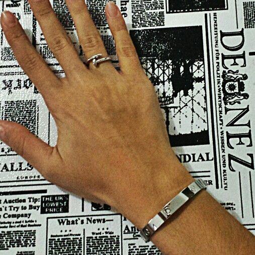 Bracelete e Anel Cartier Inspired