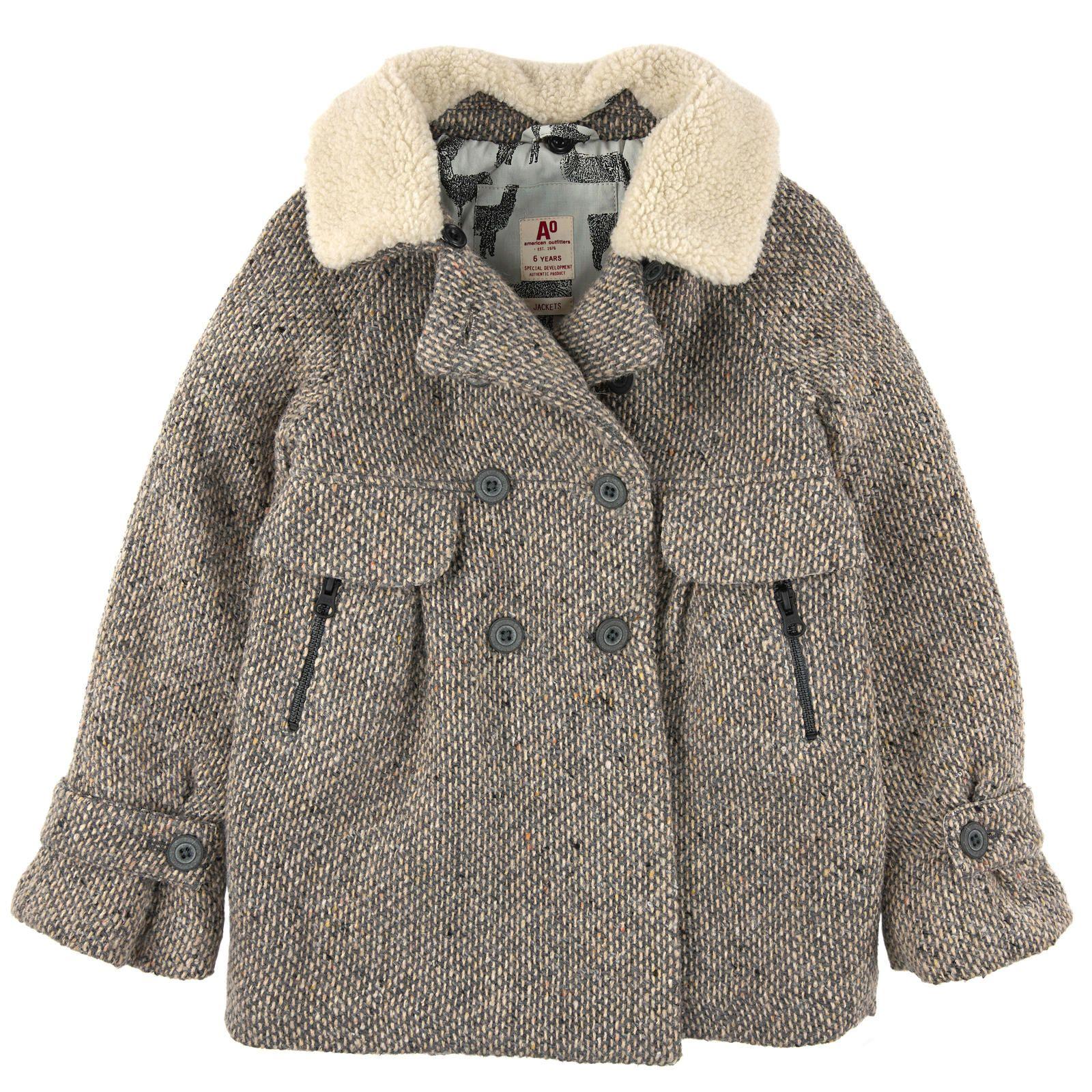 De LaineCol Manteau Tweed En AmovibleDoublure Moutonné F1KlcJ
