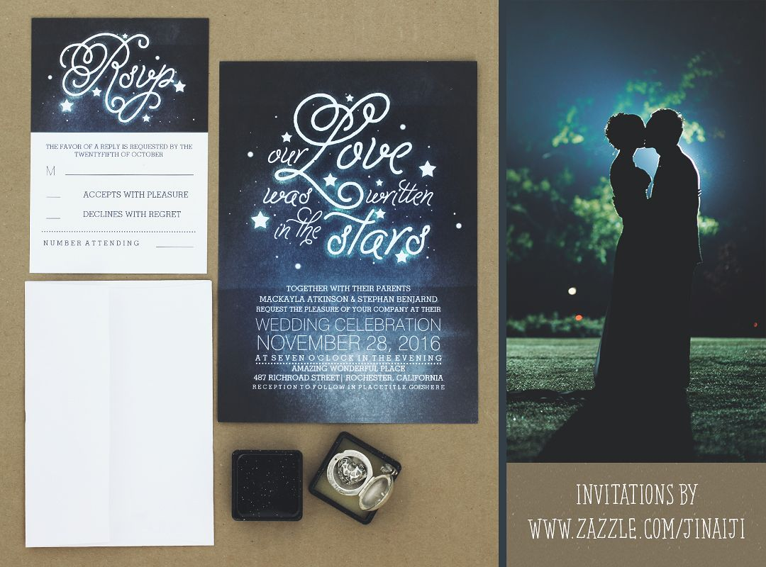 OUR LOVE WAS WRITTEN IN THE STARS WEDDING INVITATIONS | MODERN ...