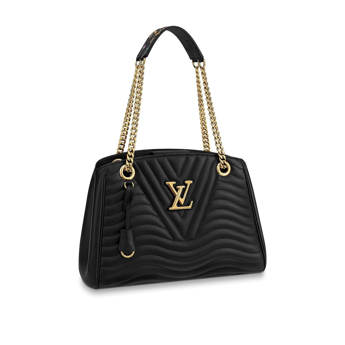 34ade295cc Vue 1 - Cabas Louis Vuitton New Wave Chain LV Cuir New Wave Femme Sacs à