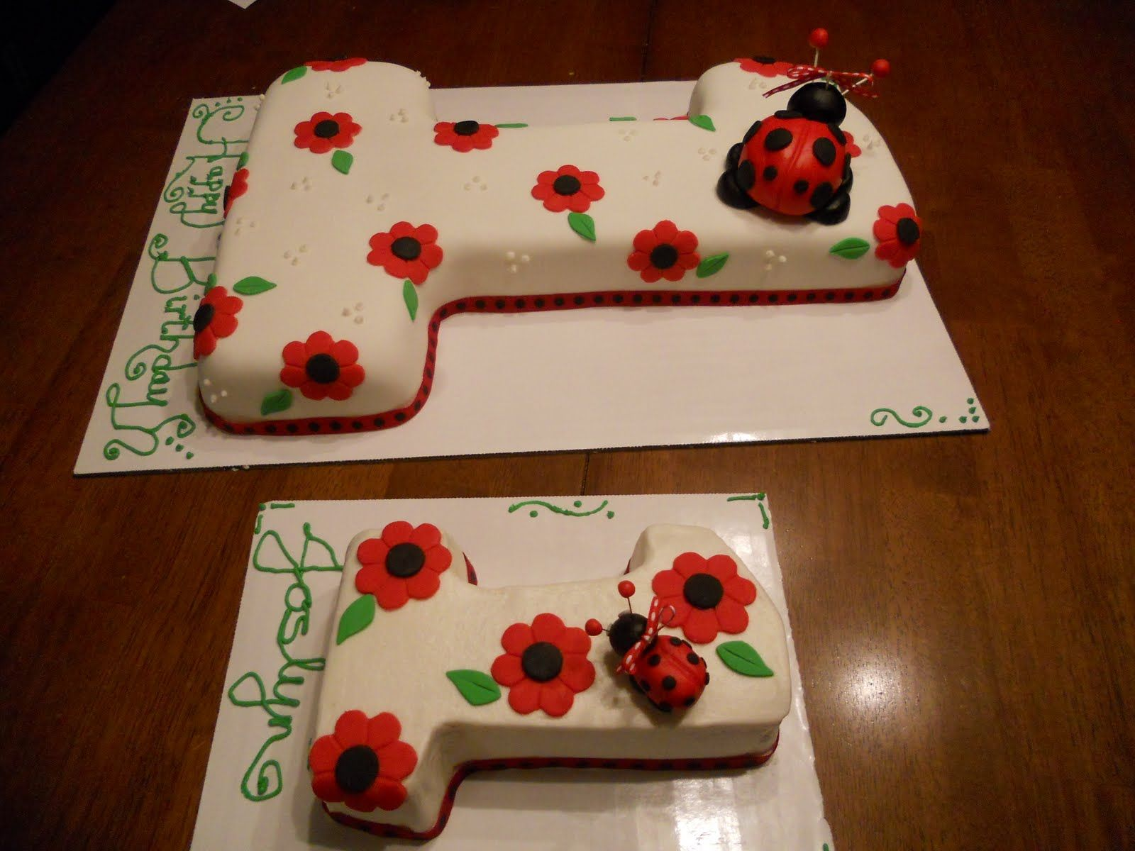 Tremendous First Birthday Ladybug Cake Ladybug 1St Birthdays First Funny Birthday Cards Online Kookostrdamsfinfo
