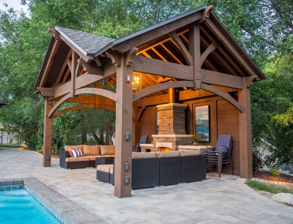 Winning Wow White Poolside Pergola Backyard Pavilion Outdoor Kitchen Design Outdoor Pavilion