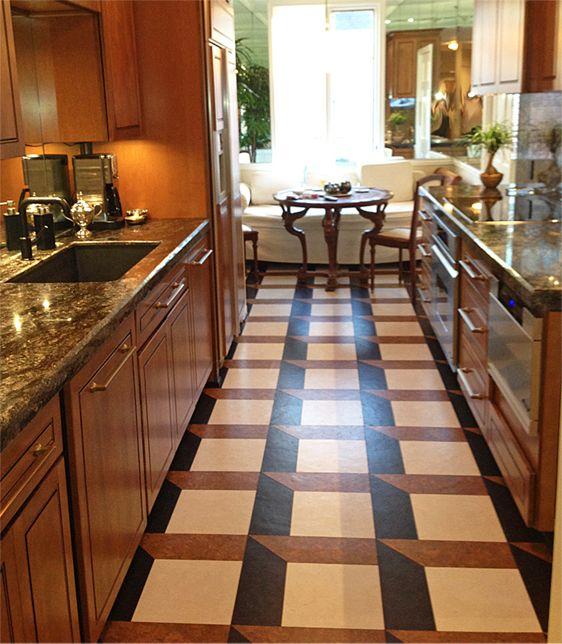 Grey Cork Flooring Kitchen: Globus Cork 100% Cork Glue-down Tiles In Pattern #21