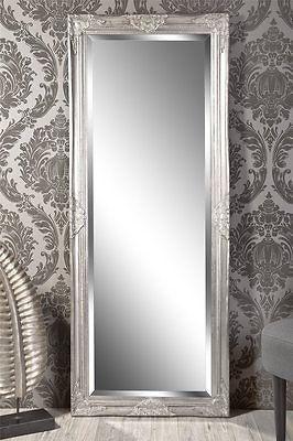 Spiegel Wandspiegel Louisa Barock Antik Silber 150 X 60 Cm My